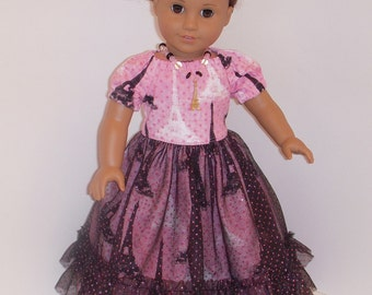 Party dress for American Girl dolls and other similar 18 inch dolls