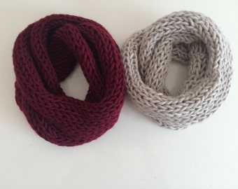 Knit Soft Valentines Scarf, Husband and Wife Scarf Set
