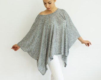 Loose tunic, sweater, off shoulder blouse, grey oversized tunic, plus size tunic top 2xl, 3xl, 4xl, 5xl, fall fashion, unisex tunic BASIC