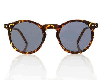 OMalley Round Tortoise Sunglasses - Smoke Lens X American Deadstock