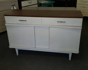 50% Off Sale Mid century modern server, tv console, buffet, sideboard, media center, retro, pick up or local delivery