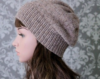 Knitting PATTERN - Knitting Pattern Hat - Slouchy Hat Knitting Patterns - Knitting Patterns for Women - Includes 4 Sizes - PDF 433