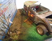 Rat Rod, Rusted Wrecked, Scale Model ,Car Diorama,Junk Yard