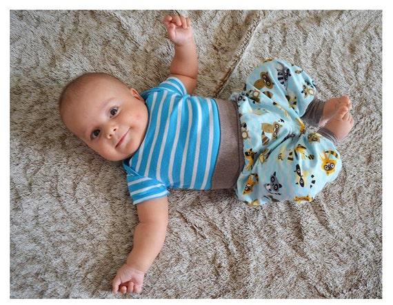 Baby Boy Girl Harem Pants Pattern Pdf Sewing Jungle Cuff