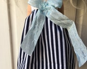Blythe Doll Navy Stripes Dress