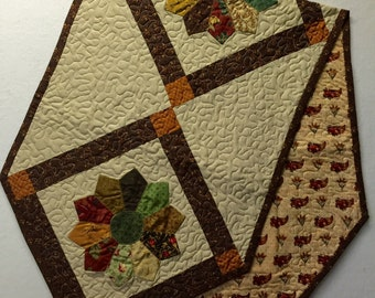 One of a Kind - Dresden Machine Quilted Table Runner