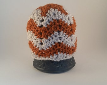 Orange Chevron Baby Beanie Hat