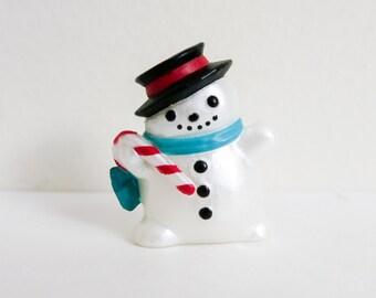 Hallmark Merry Miniature Snowman Figurine - Mini Snowman - Christmas Figurine - Wreath Supply - Dollhouse Christmas  Decoration