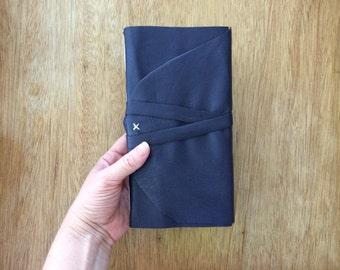 Deep Purple Leather Journal-Travel Journal-Sketch Book-Notebook-Handmade