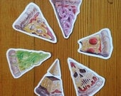 Pizza stickers, 6 pack