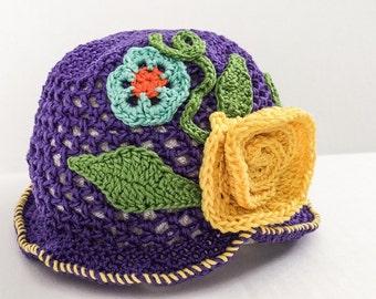 Purple Spring Hat