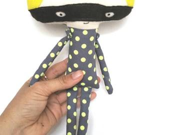 Superhero Doll, Plush Superhero, Boy Fabric Doll