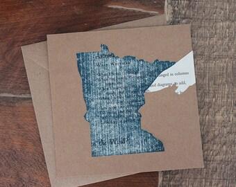 north shore card on Walt Whitman poem