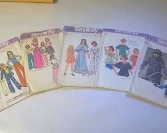 5 Pack Assorted Vintage Simplicity Sewing Patterns SIM 7201