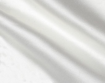 Stretch Satin Charmeuse White Fabric by the yard
