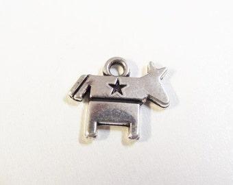 5CT. Democrat Inspired Patriotic Donkey Charms, (Y26)