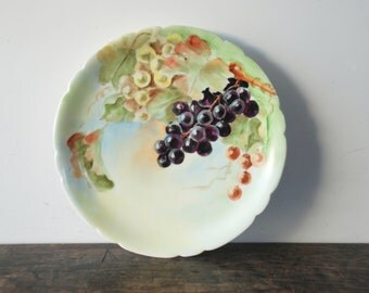 Antique JP Limoges France Hand-Painted Fruit Plate