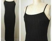 90s tight ribbed long dress Medium