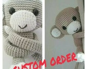 Custom order- 3 monkey curtain tie back (Alison)