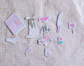 girly things sticker pack