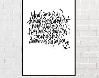 We all carry these things... Typographic giclee print