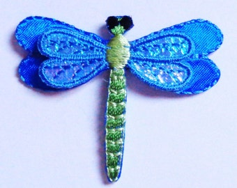 dragonfly layered embroidered iron on patch