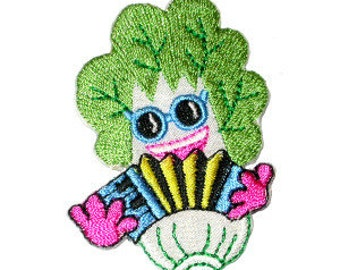 Iron On Patch Applique - Bok Choy with Squeezebox