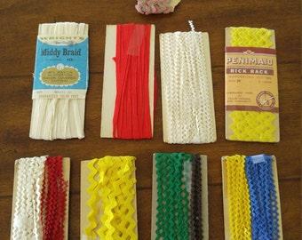 Vintage Rick Rack and Braid Lot - Vibrant Colors!