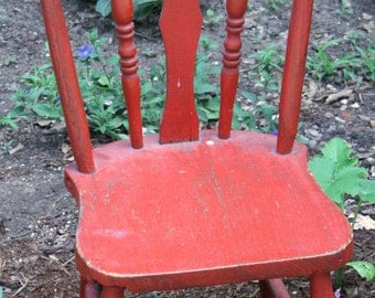 Small Red Vintage Child's Chair