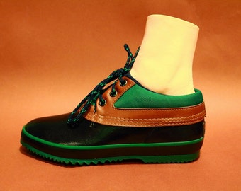 Vintage 80s Womens Rain Shoes Size 7 Hipster Weather Hiking Camping Fishing