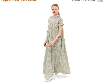 SALE 40% OFF Loose and Comfy Maxi Dress, Relaxed Fit Short Sleeves Summer Dress, Oversized Elegant Evening Dress, Trendy Clothing