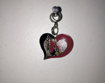 Arizona swirl heart charm