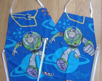 Childrens Blue Buzz Lightyear (Toy Story) Aprons (Age 4 - 6 or 6 - 8 years)