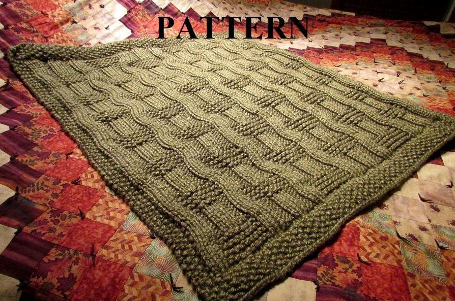 Chunky Yarn Baby Blanket Knit Pattern : Knit Baby Blanket Pattern, Knitting Pattern, Chunky Yarn, Knit Purl Stitch On...