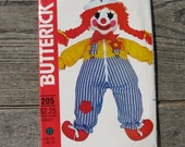 1970s butterick 205 sewing pattern clown learning toy uncut factory folded great bazaar craft vintage craft pattern