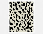 Graphic Art Print - Abstract Cheetah Pattern - Neutral Artwork - Vertical Wall Art - 5x7, 8x10, 11x14 - Bedroom Art, Bathroom Art