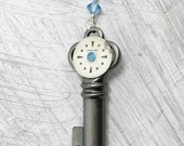 Key to Time (ladies fashion, gift for her, steampunk, layering jewelry, key necklace, OOAK, vintage repurposed)