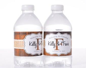 """100 8"""" x 2"""" Waterproof Wedding Water Bottle Labels"""