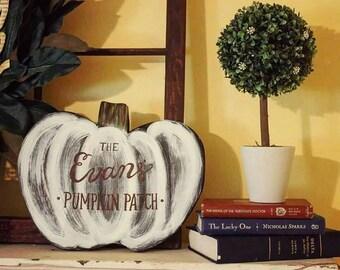Personalized Pumpkin Fall Door Hanger