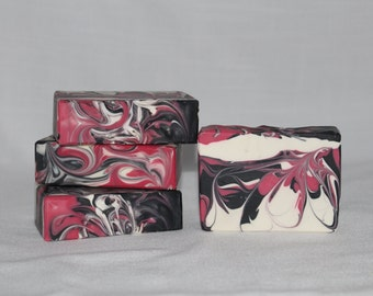 SALE! Black Raspberry Vanilla Scented Soap, Handmade Cold Process Artisan Soap, Best Seller