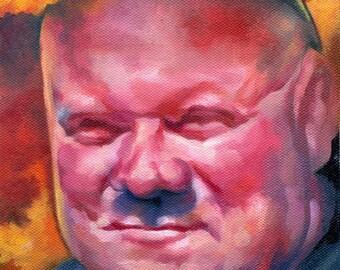 Canvas Print / UC Davis Pepper Spray Cop Portrait