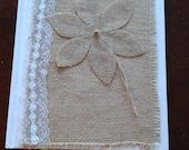 Burlap covered memory  book weddings  Donna Su Domichcreations etsy