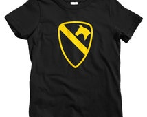 Kids 1st Cavalry T-shirt - Baby, Toddler, and Youth Sizes - Army Tee, Military - 2 Colors