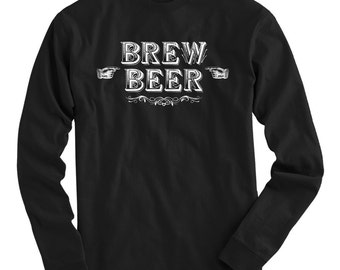LS Brew Beer Tee - Long Sleeve T-shirt - Men S M L XL 2x 3x 4x - Beer Shirt, Craft Beer, Microbrew, Brewery - 4 Colors