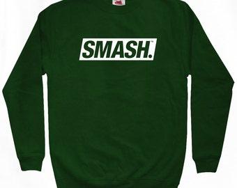 Smash Boxed Logo Sweatshirt - Men S M L XL 2x 3x - Crewneck Smash Transit Shirt, Move Forward, Regret Nothing - 4 Colors