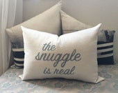 Snuggle, Cuddle pillow / Anniversary, Valentines Day, Weddings, Bedroom Decor