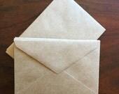Kraft Envelopes, Inventory Sale, Pack of 20, A2 Size Envelopes, Supplies, Wedding Invitation Envelopes, Stationery Supplies, Paper Goods