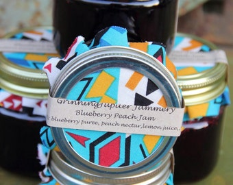 Homemade Blueberry Peach Jam - 4oz