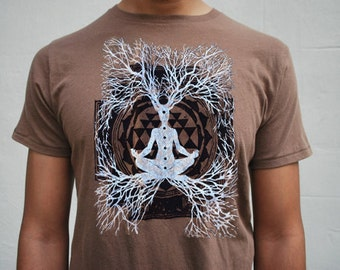 Sacred Geometry Tee - Mens / Unisex t-shirt - Flower of Life Clothes