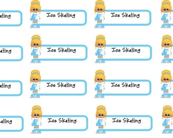 Ice Skating Planner Stickers